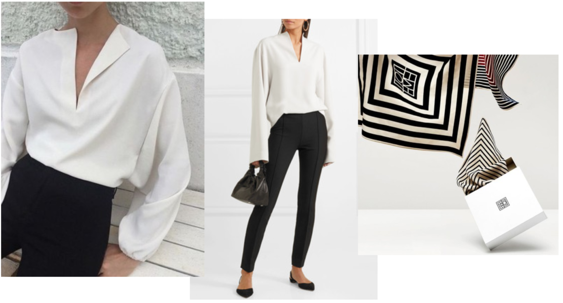 vit skjorta svarta byxor